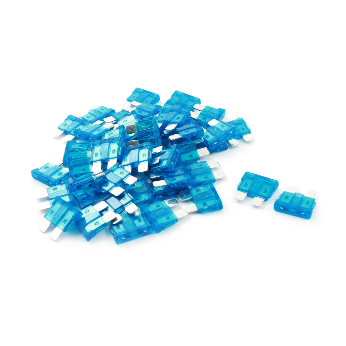Automotive Car Auto Truck Plug in Type ATO ATC Blue Plastic Shell Mini Blade Fuse 15A 50Pcs