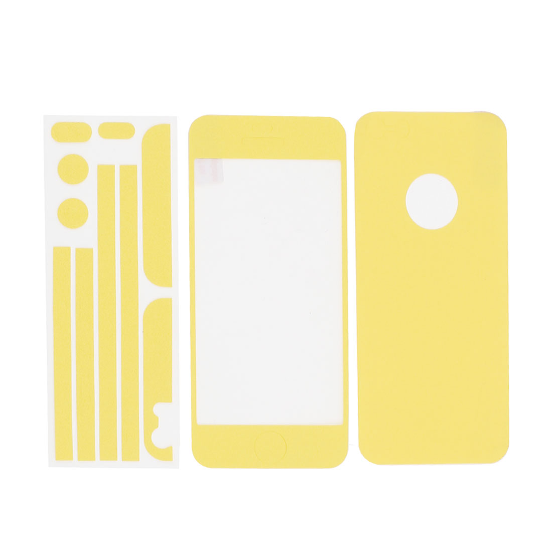 Yellow Self Adhesive Edge Wrap Decal Skin Sticker Set for Apple iPhone 5 5G 5th