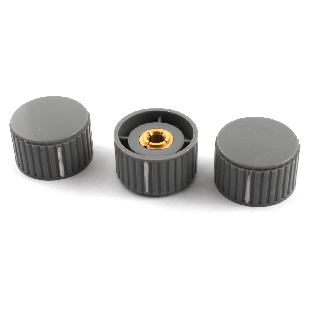 3 Pcs 32mm Nonslip Gray Plastic Volume Control Rotary Potentiometer Encoder Knob for 6mm Dia Shaft