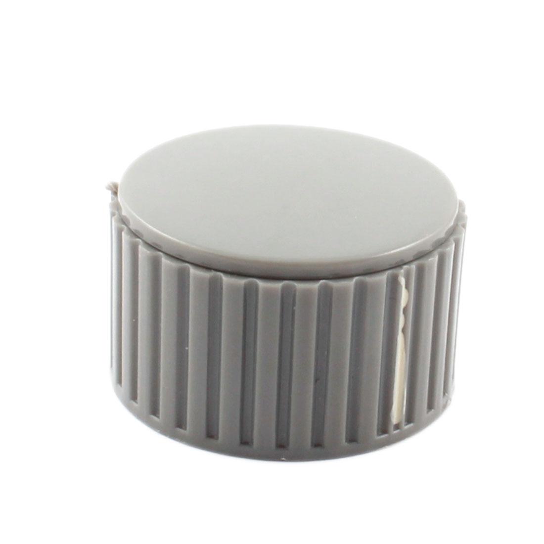 32mm Cap 6mm Dia Insert Hole Nonslip Plastic Volume Control Rotary Potentiometer Knob Gray