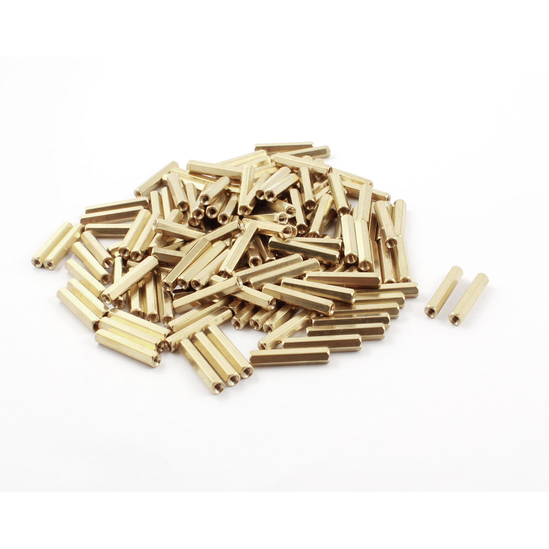 120Pcs M3 x 25mm Female Thread Dual Ends Brass Pillar PCB Standoff Hexagonal Nut Spacer