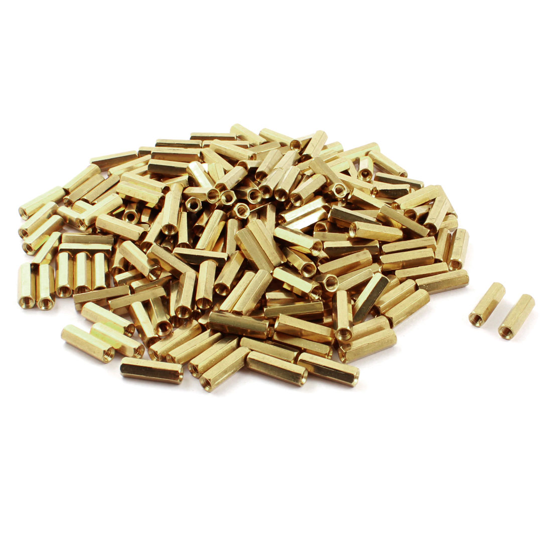 200 Pcs M3 x 16mm Female Thread Dual Ends Brass Pillar PCB Standoff Hexagonal Nut Spacer