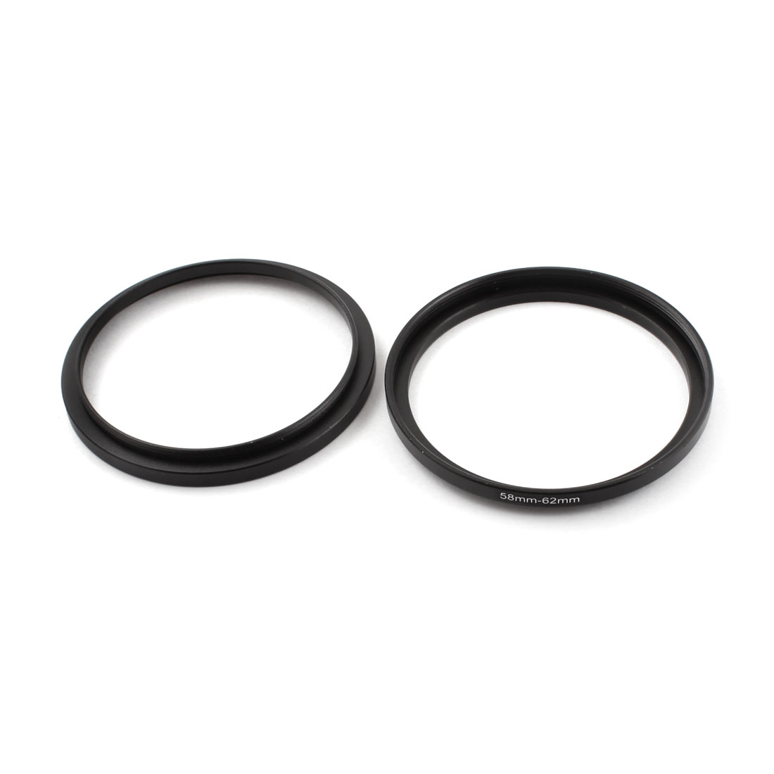 58mm-62mm 58mm to 62mm Aluminum Camera Step Up Lens Adapter Filter Ring 2 Pcs