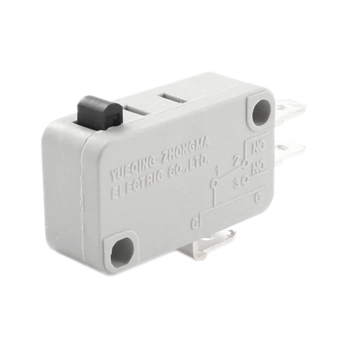 SPDT 1NO+1NC Memontary Push Button Actuator Rectangle White Micro Limit Switch AC 250V 15A