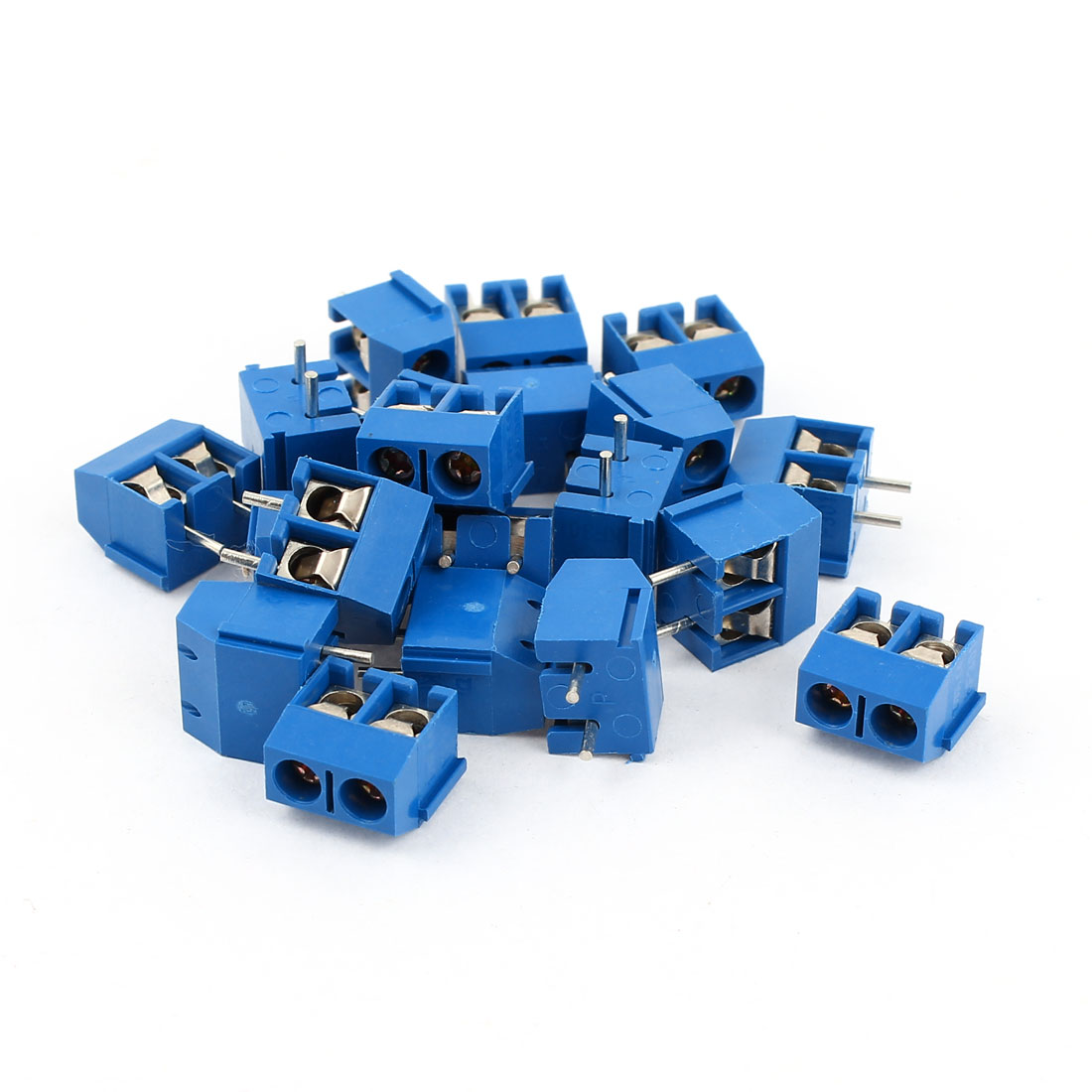 20 Pcs 5.08mm Pitch 2Pin Pluggable Type PCB Screw Terminal Block Connectors Blue