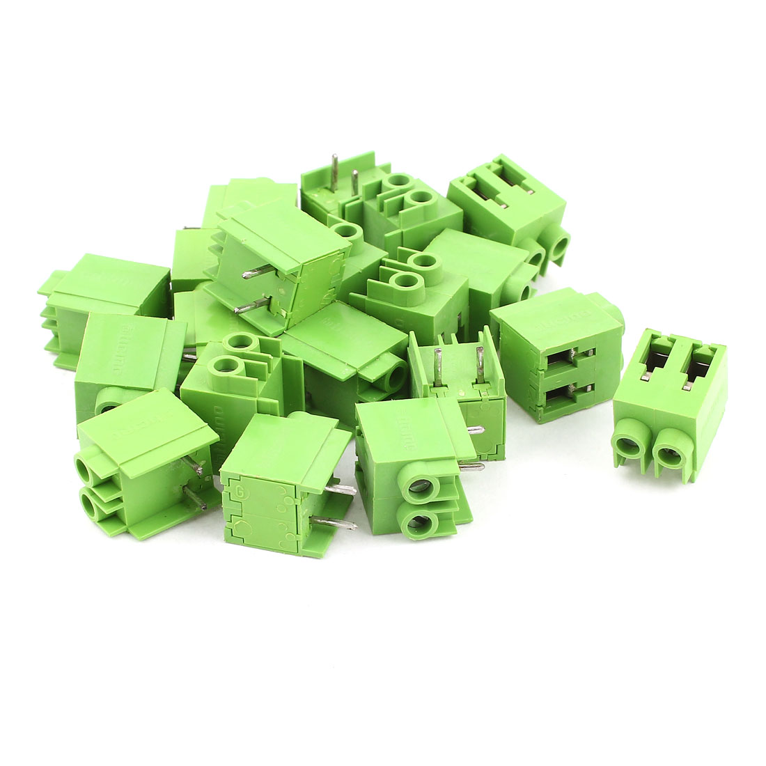 20 Pcs 5.76mm Pitch PCB Mount Screw Terminal Block Green