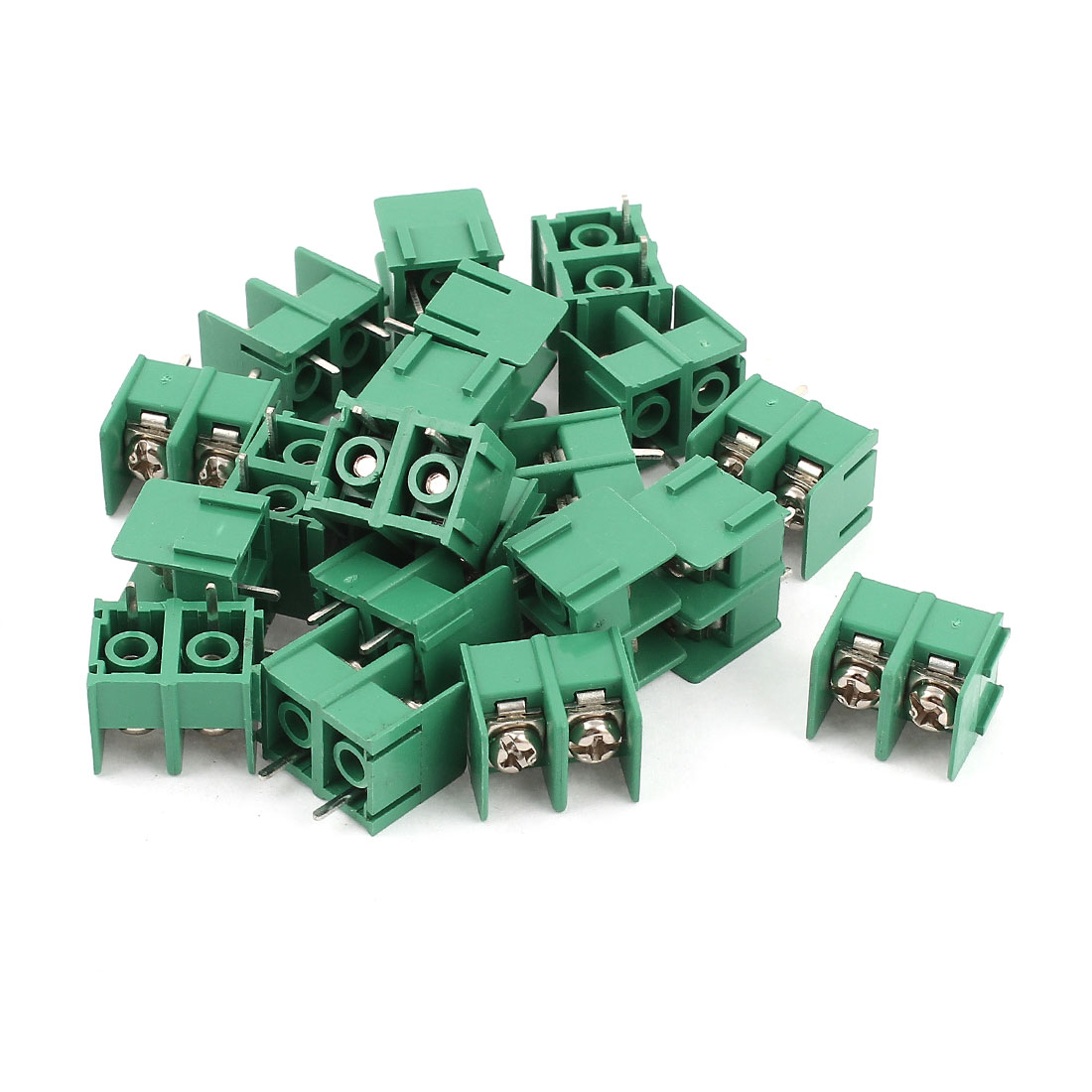 20 Pcs 7.62mm Pitch 2Pin Pluggable Type PCB Mount Screw Terminal Block Connector