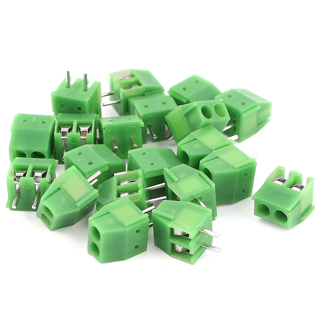 20 Pcs 3.5mm Pitch 2Pin Pluggable Type PCB Mount Screw Terminal Block Connectors