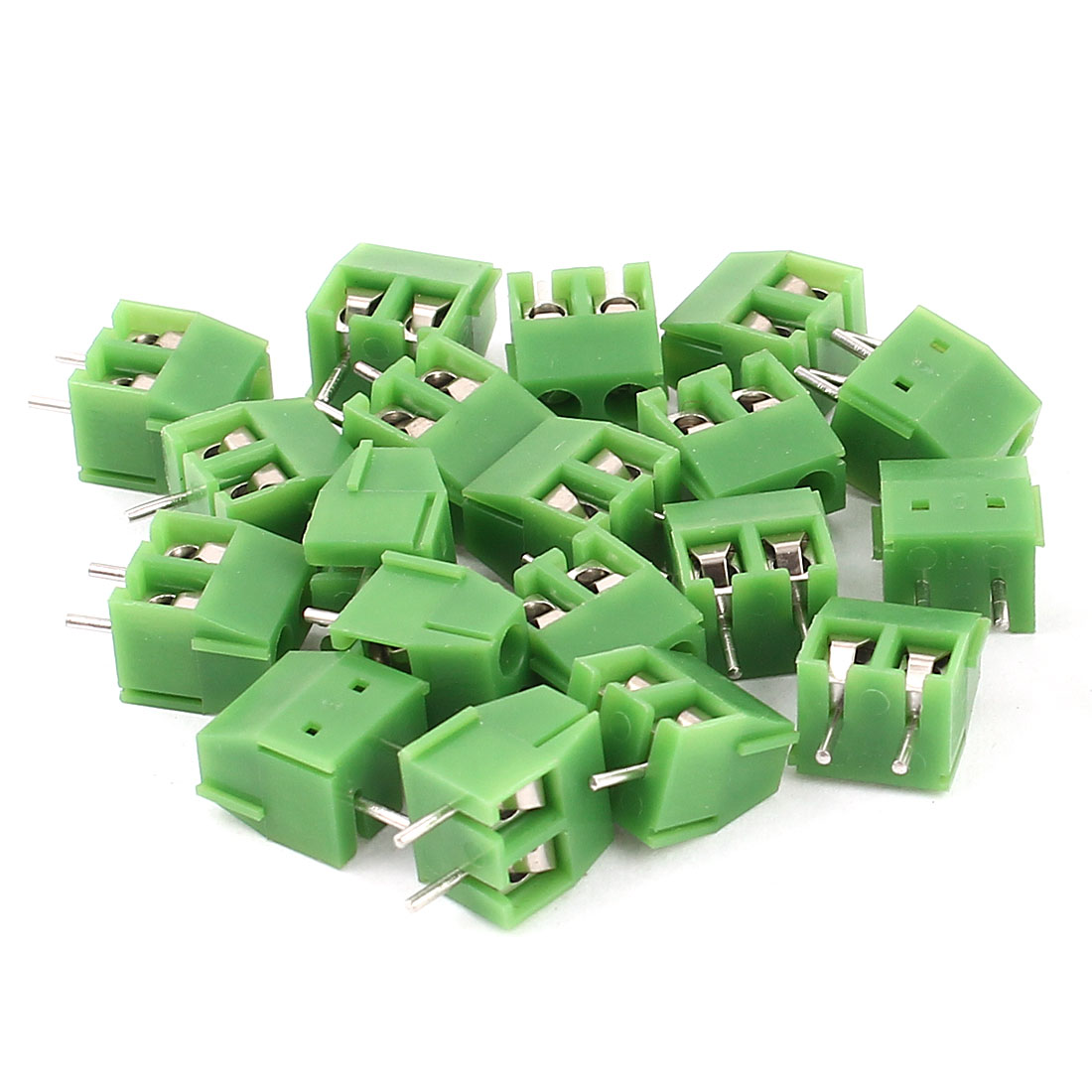 20 Pcs 3.96mm Pitch 2Pin Pluggable Type PCB Screw Terminal Block Connector Green