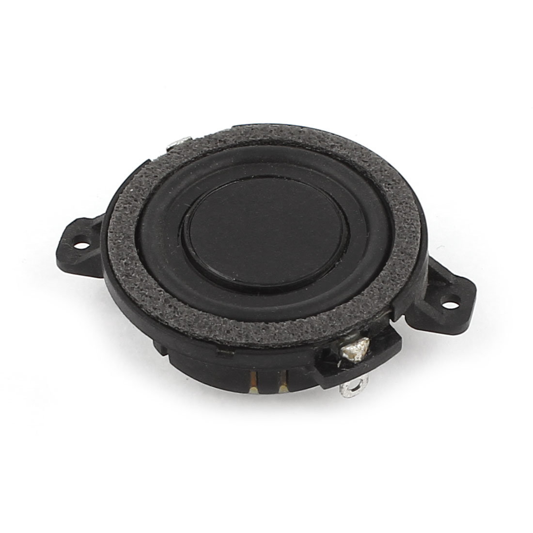 Black 48 Ohm 36.5mmx13mm Round Shape Metal Shell Magnet Electronic Speaker Loudspeaker