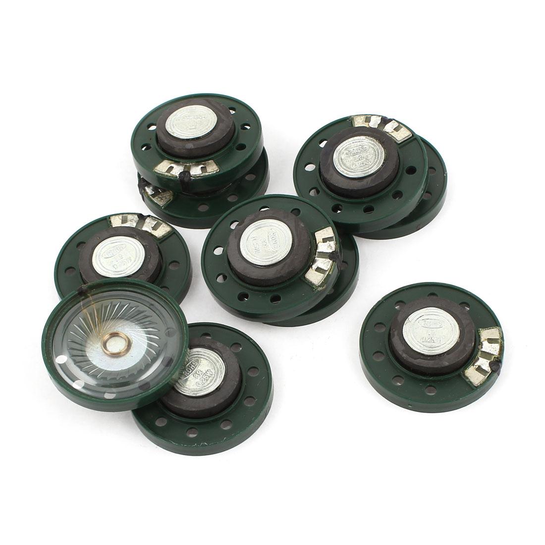 10 Pcs 0.25W 8Ohm 35mm Round Plastic Shell Magnet Electronic Speaker Loudspeaker
