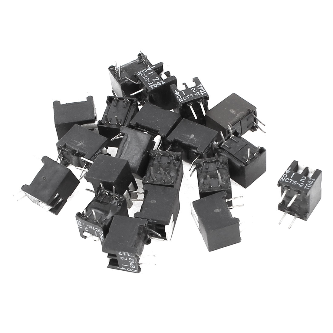 20 Pcs 4 Pins 2 Positions Way Sliding Type Switches 2.54mm Pitch Black
