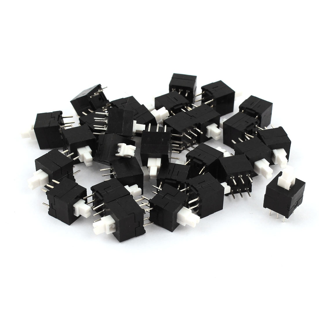 30 Pieces 16mmx8.6mmx8.5mm 6 Pins Latching Push Button Tact Tactile Micro Switch