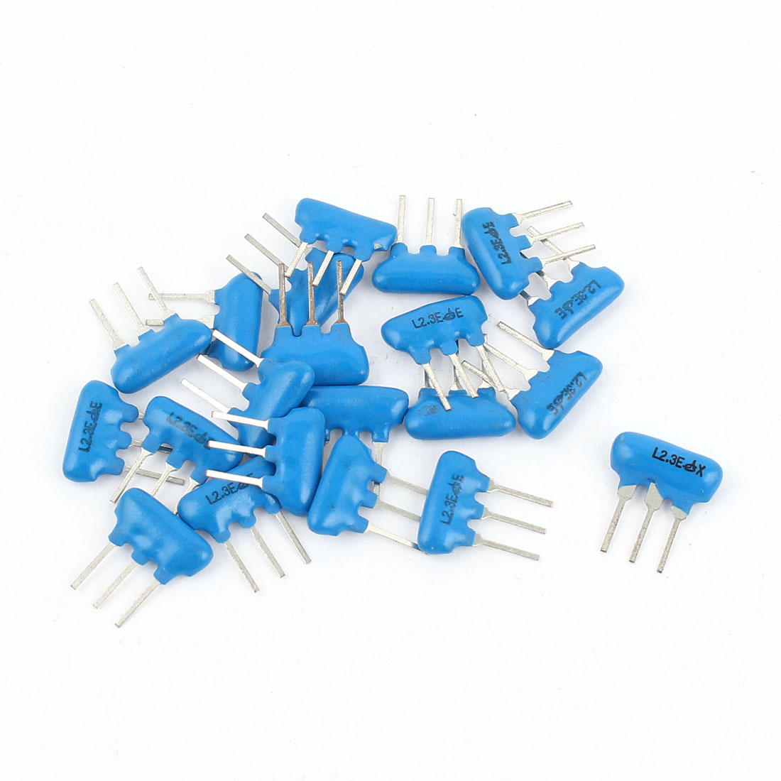 20 Pcs Radial Lead Ceramic Filter Crystal Resonators 2.3MHz LTS2.3MEB Blue