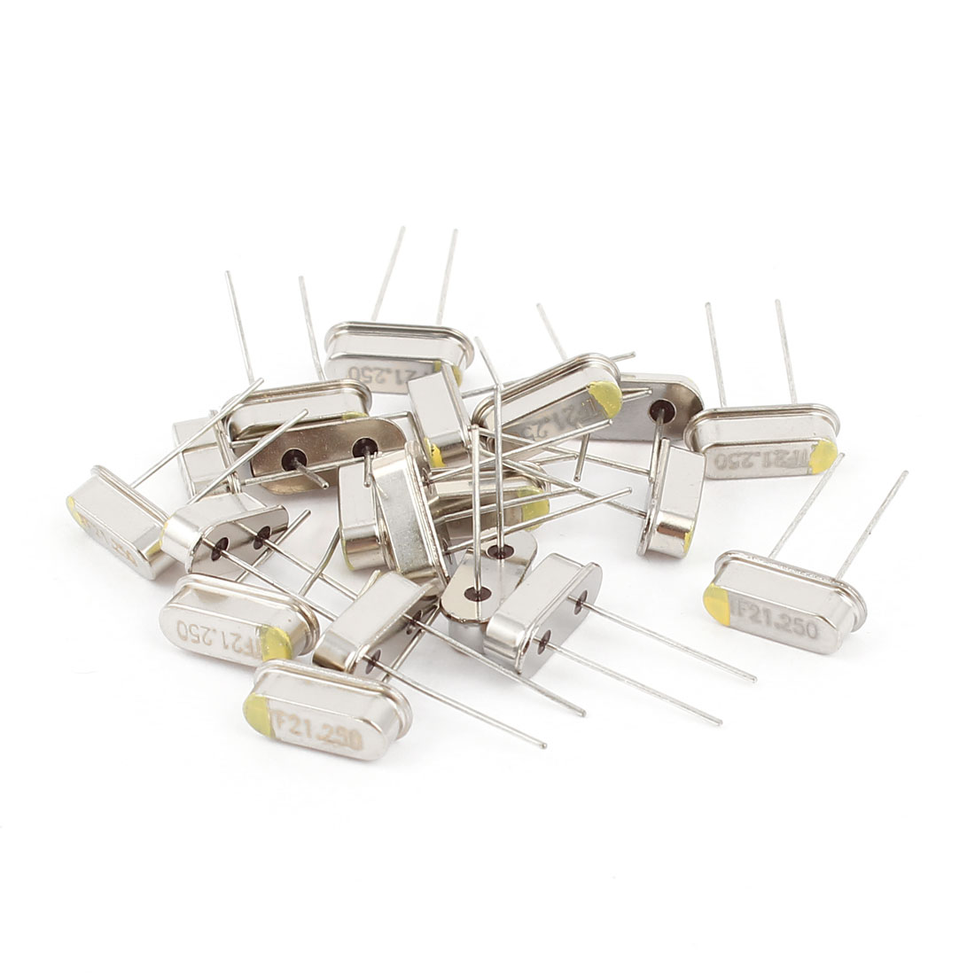 20 x Low Profile 21.25MHZ DIP Mount Quartz Crystal Oscillator HC-49S Replacement
