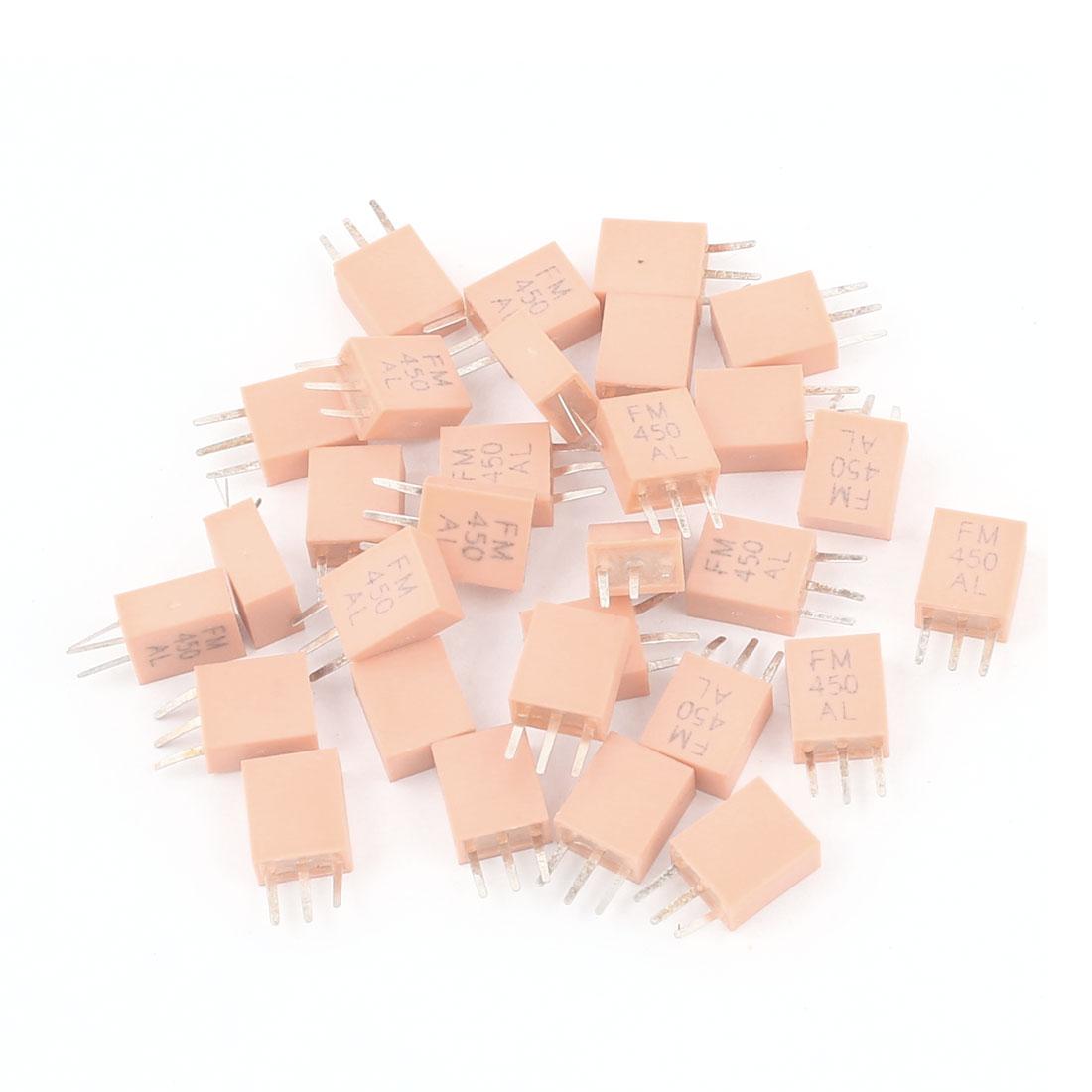 30 Pcs FM450AL 450KHz Frequency 3 Pins Ceramic Crystal Resonator