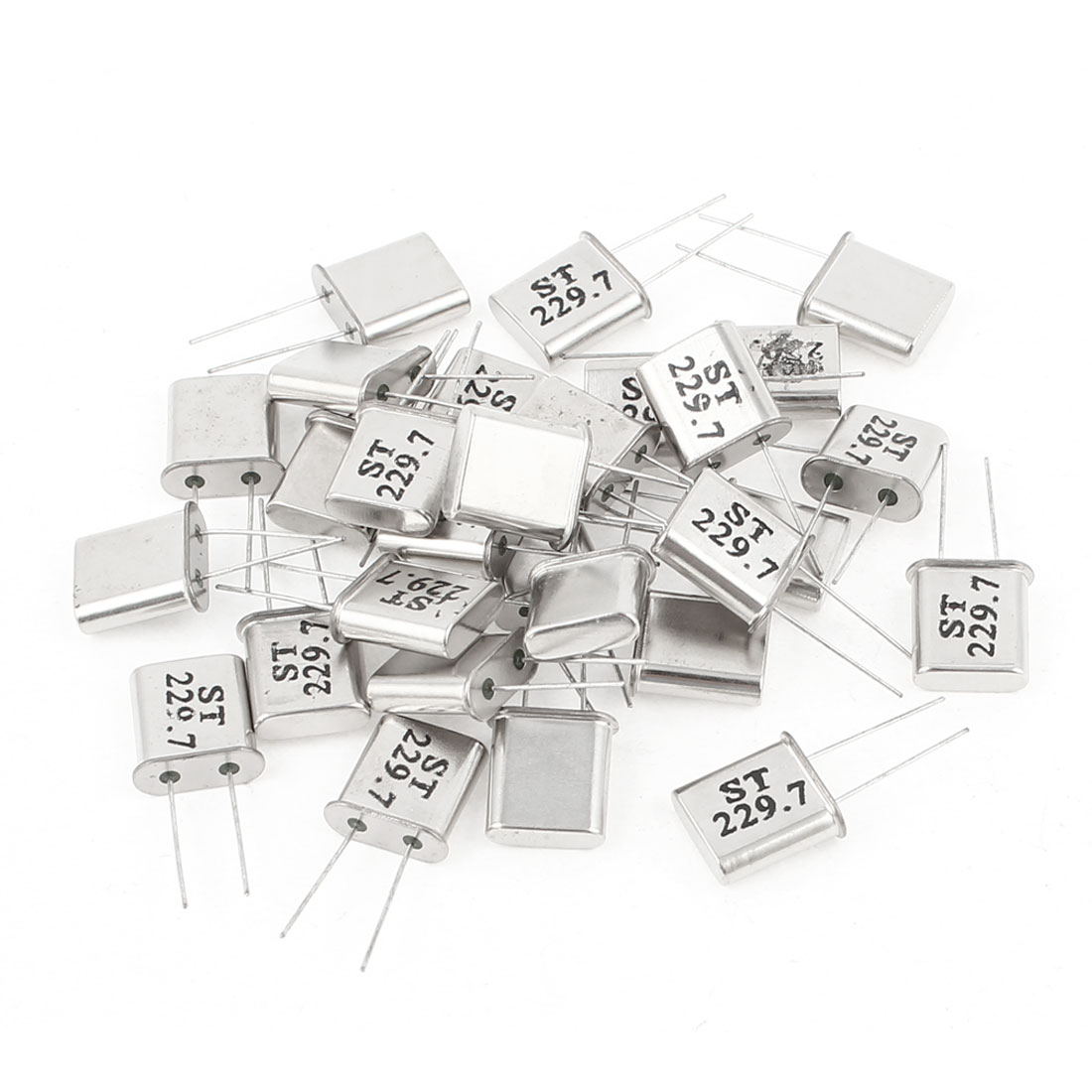 30 Pieces 229.7Mhz 229.700M Passive Quartz Crystal Oscillator Silver Tone HC-49U