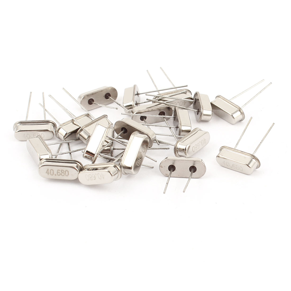 20 Pieces Low Profile 40.680MHZ DIP Quartz Crystal Oscillator HC-49S Replacement