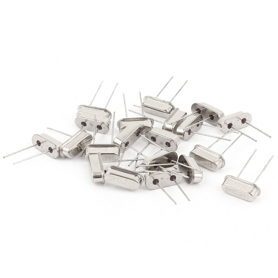 20 Pieces Silver Tone 10.245MHZ DIP Mount Crystal Oscillator HC-49S Replacements