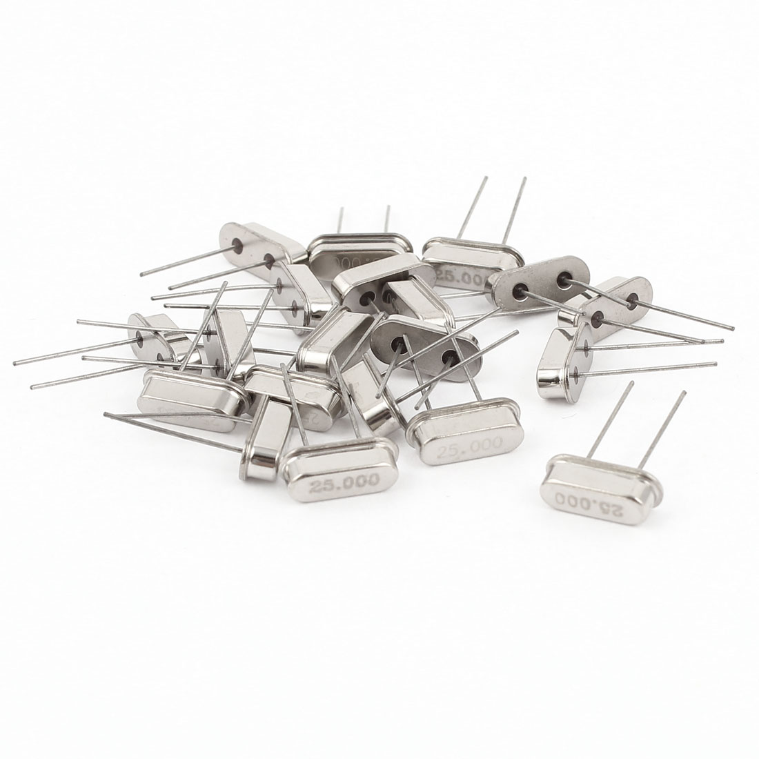20 Pcs Low Profile 25MHZ 25.000MHZ Quartz Crystal Oscillator HC-49S Replacements