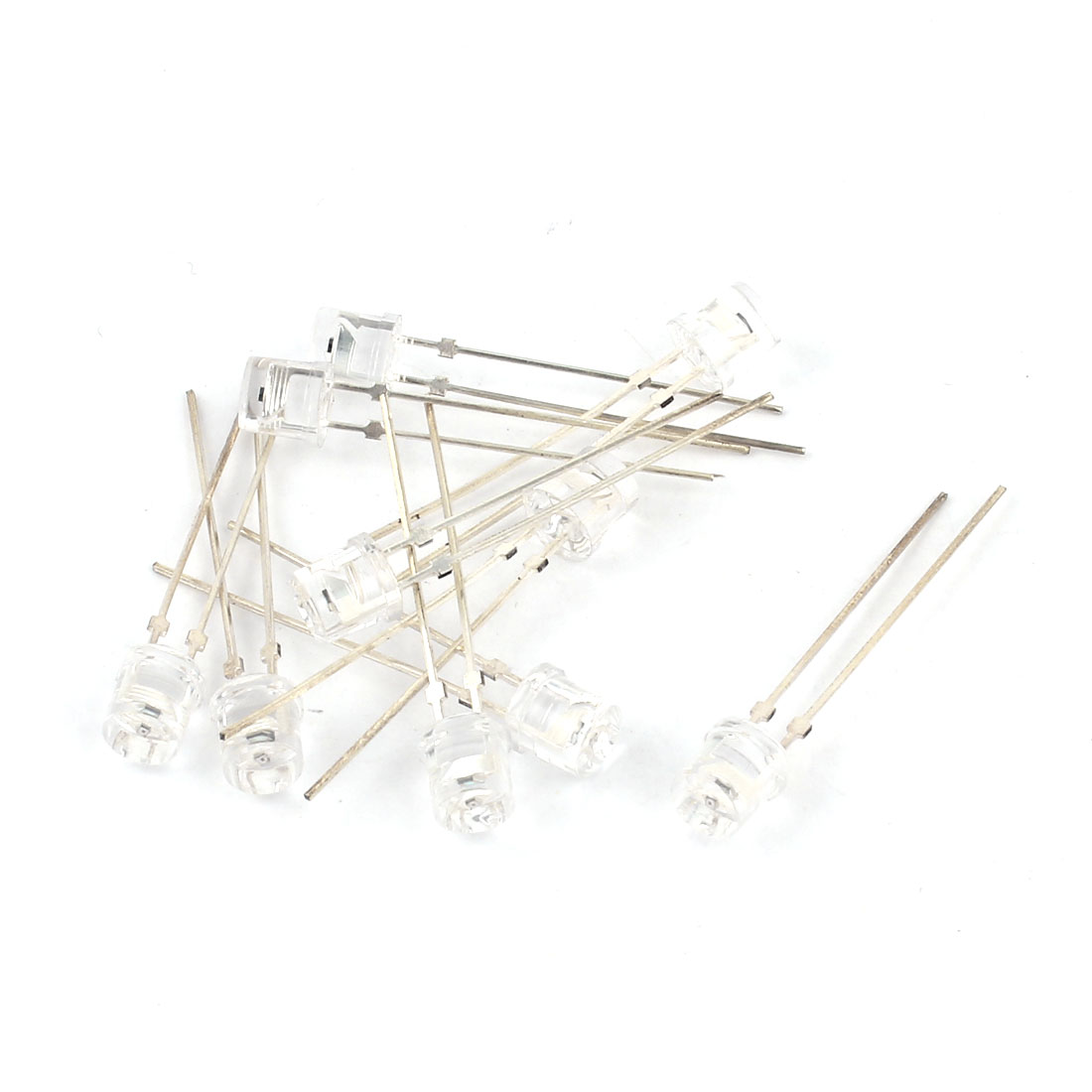 10 Pcs Clear 5mm Cylinder Head Photodiode Photosensitive Light Sensitive Diodes