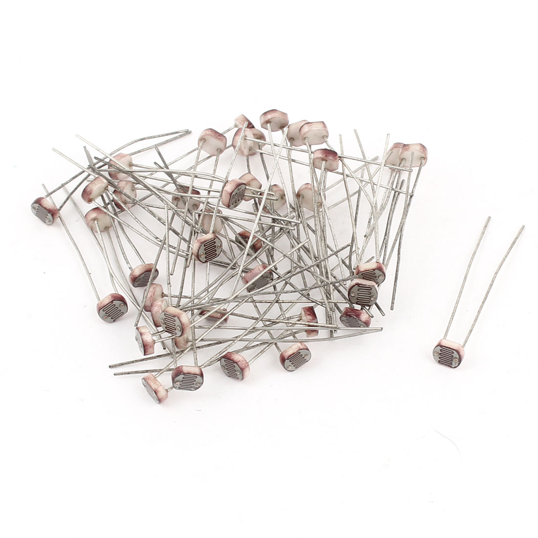 40 Pieces Photoresistor GL5516 LDR Photo Resistors Light Dependant Resistor 5mm
