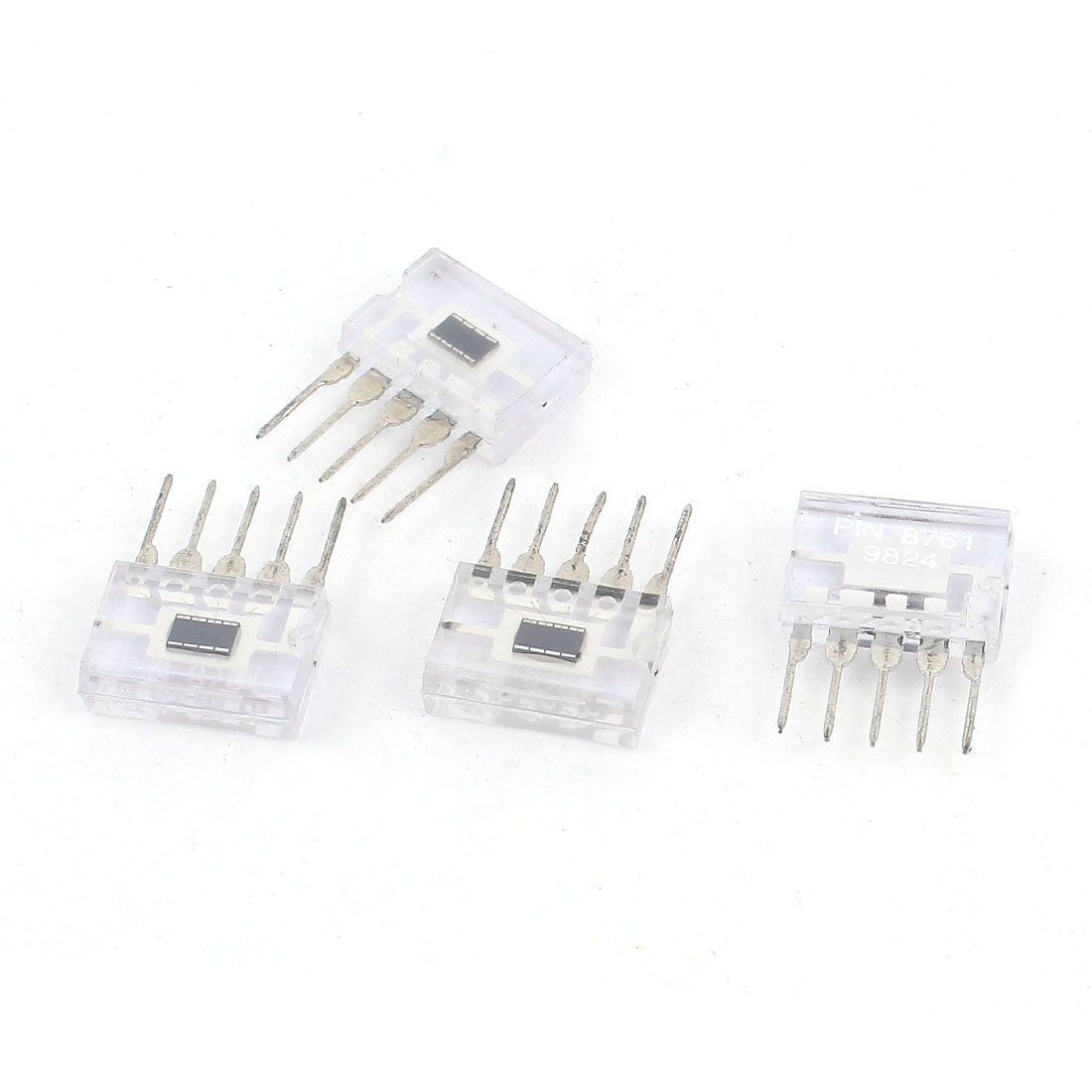 4 Pcs PIN8761 DIP Mount 5 Pins Photocell Photoelectric Infrared Sensor Receiver