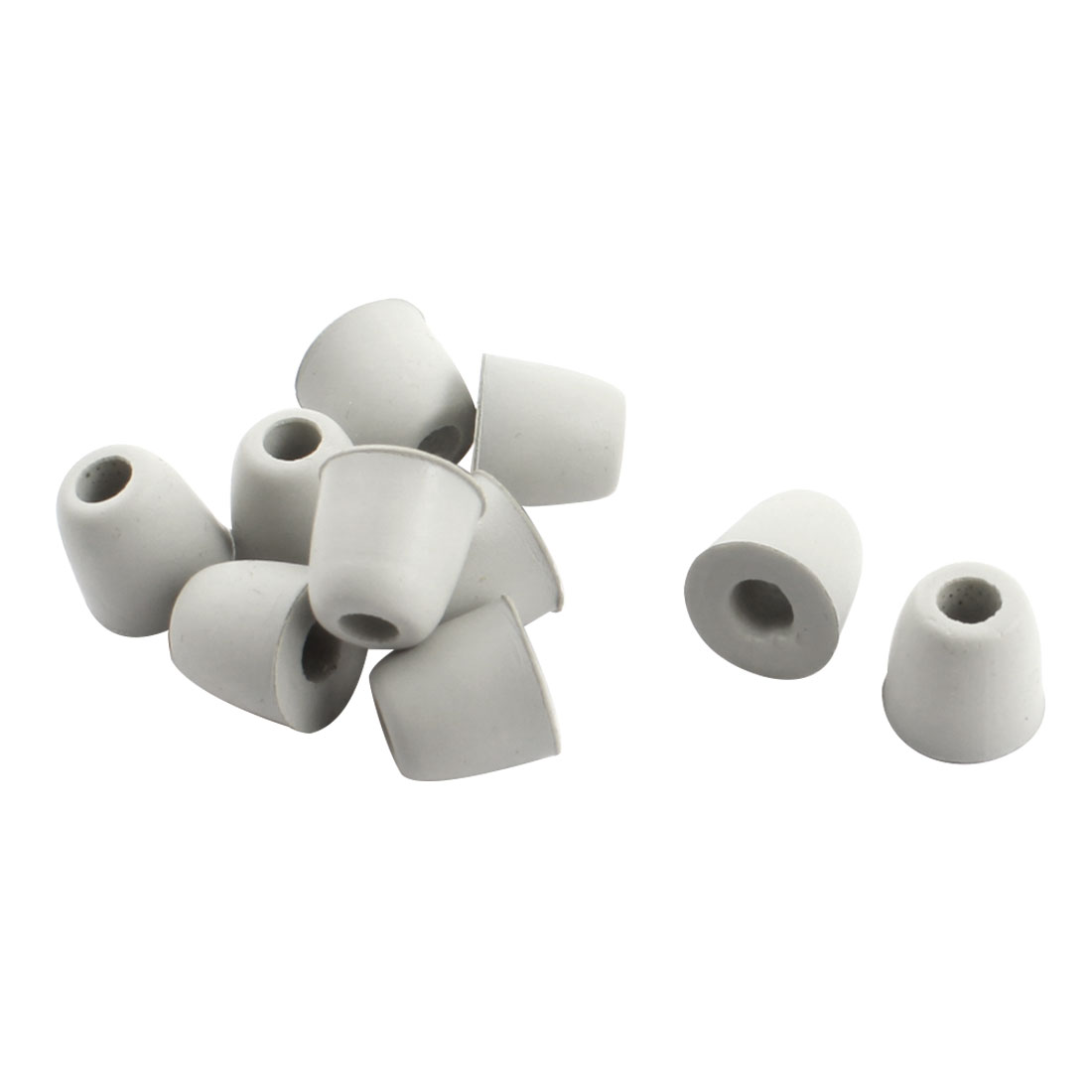 Noise Cancellation Soft Memory Foam Earbud Eartips Replacement Gray 5mm Dia 10Pcs