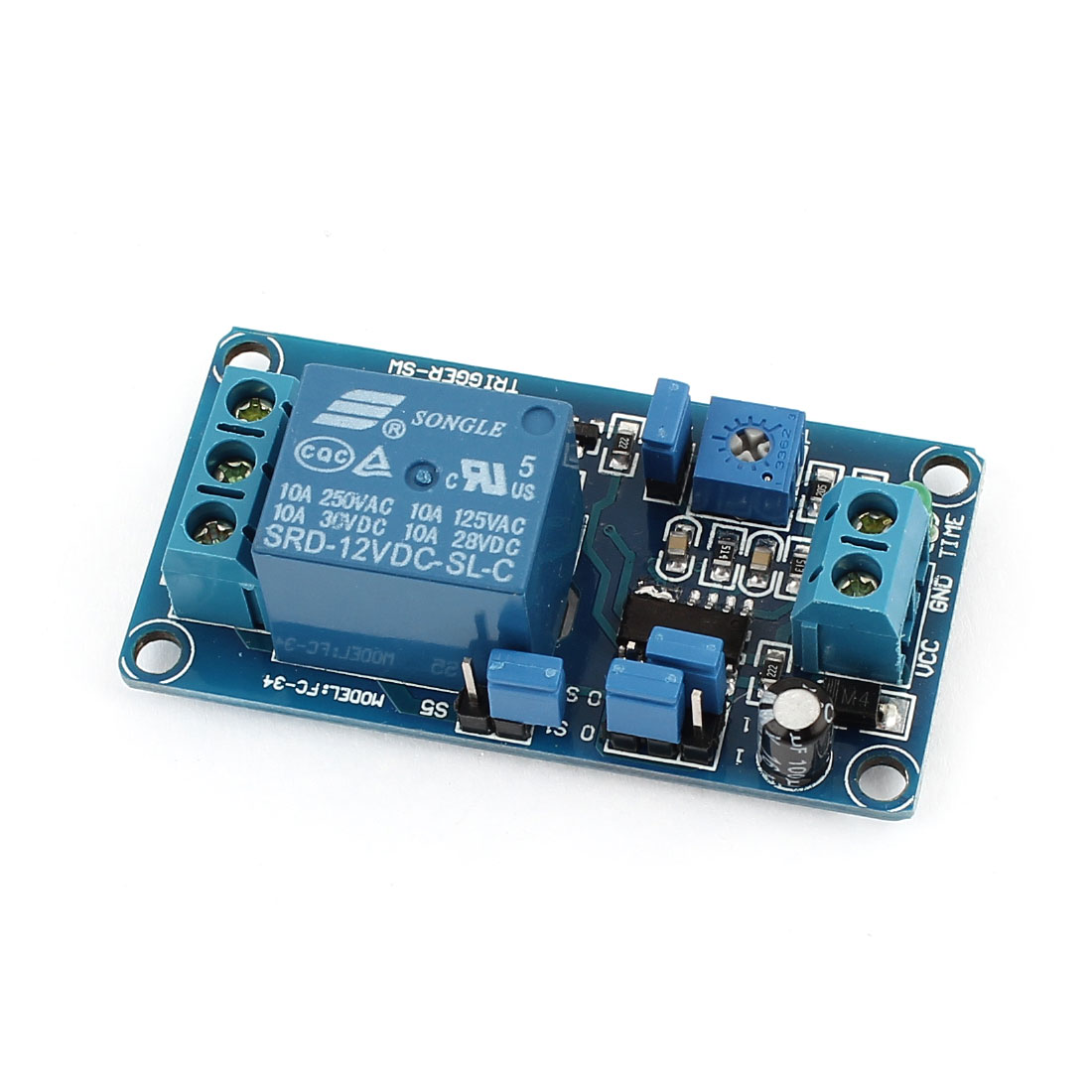 DC 12V 1-Channel Time Delay Relay Module Extension Board for AVR