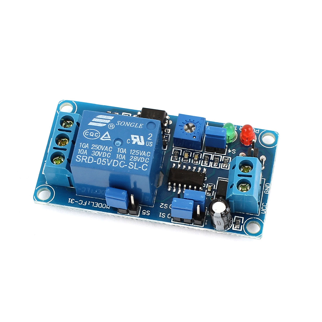 Blue DIY 1 Channel Normal Close Trigger Time Delay Relay Circuit Module DC5V