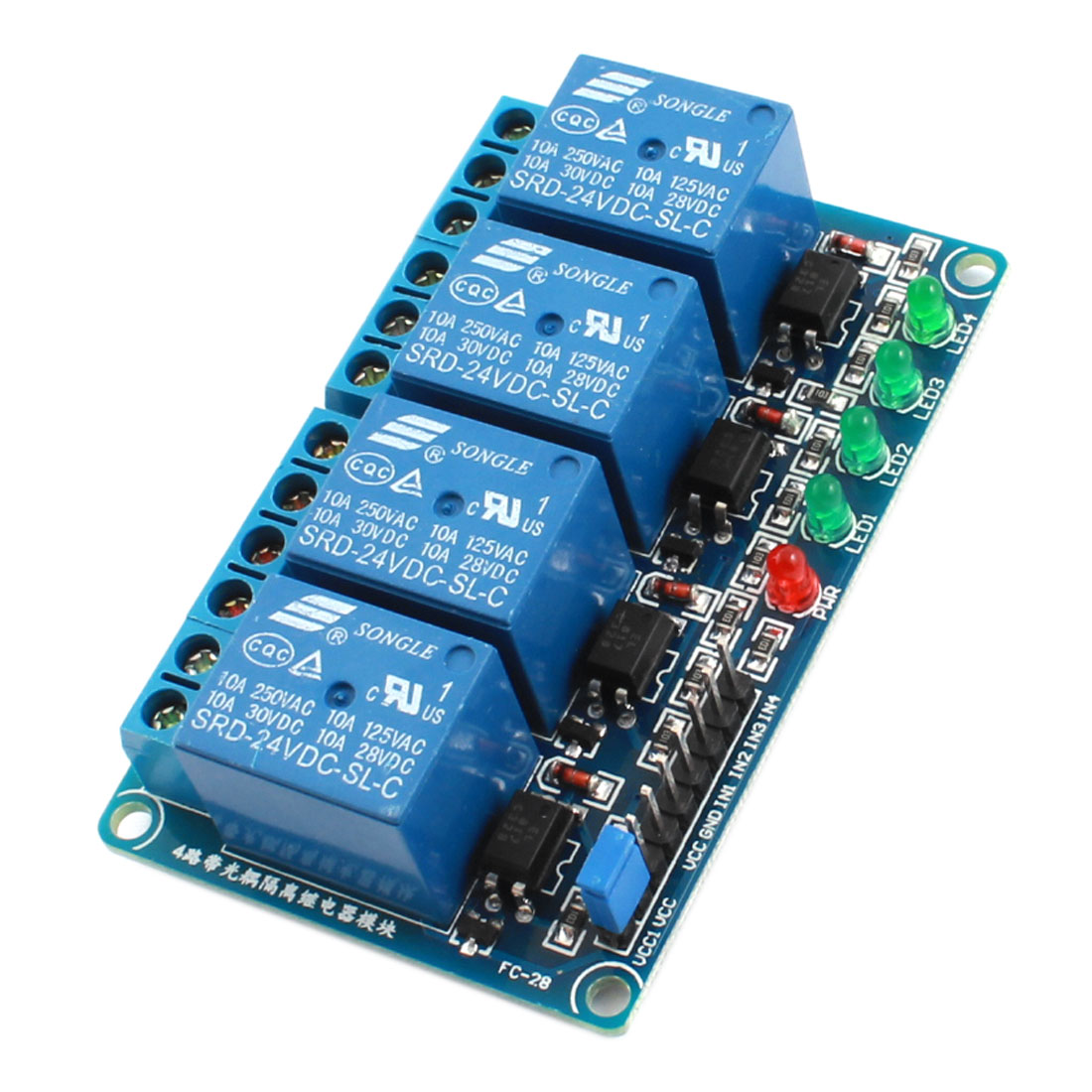 DC24V 4 Channel 4-CH High Level Trigger Optical Coupler Relay Circuit Module
