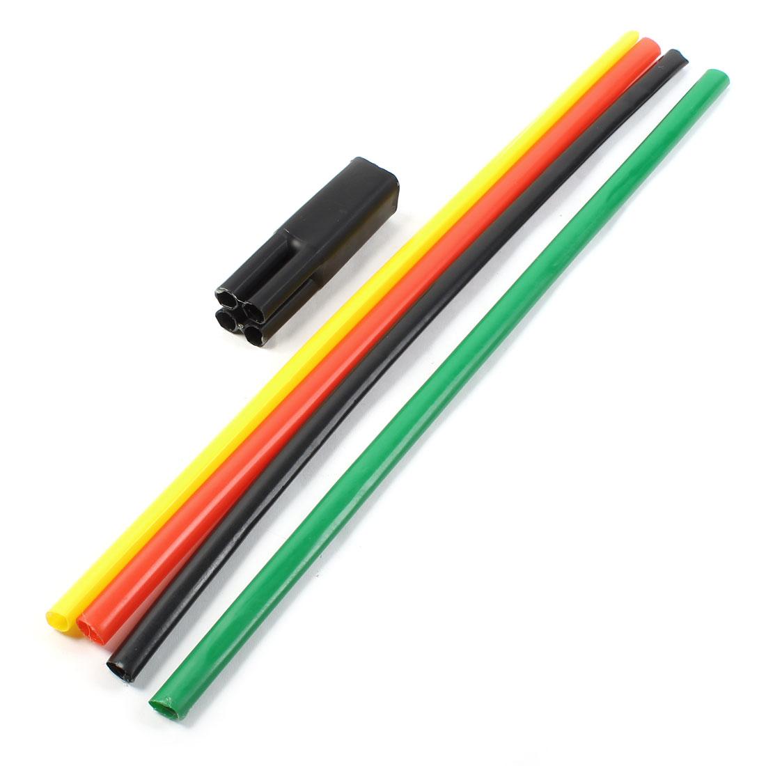 1KV 10-16mm2 Multi Color Heat Shrinkable Bushing 4 Way Heatshrink Breakout Boot