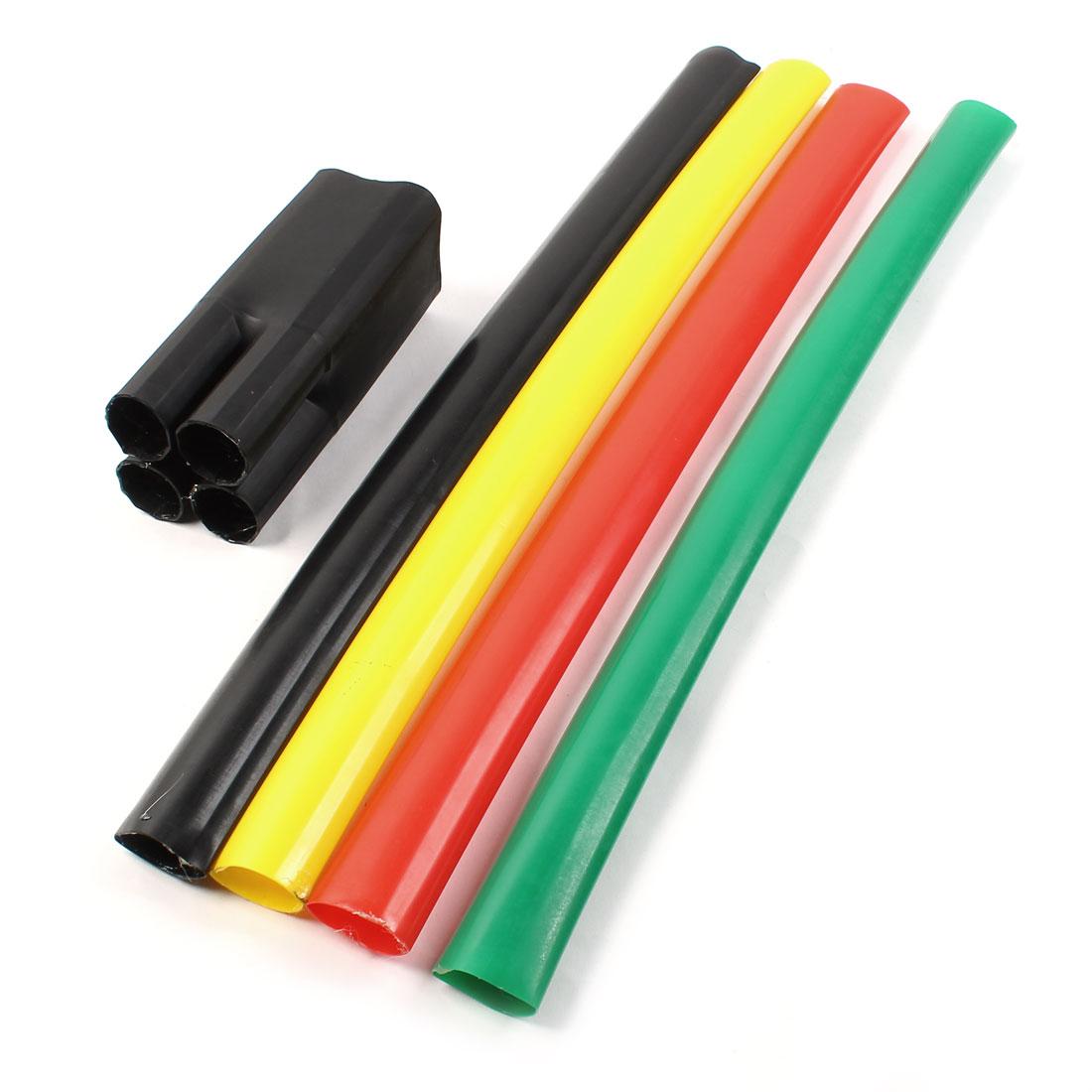 1KV 150-240mm2 Multi Color Heat Shrinkable Bushing 4 Way Heatshrink Breakout Boot