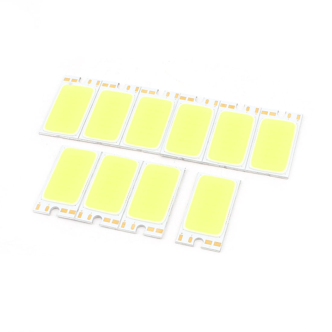 1.7W DC 9-11V 170mA 80-90LM/W White LED Light COB Lamp Bead Chip 10 Pcs