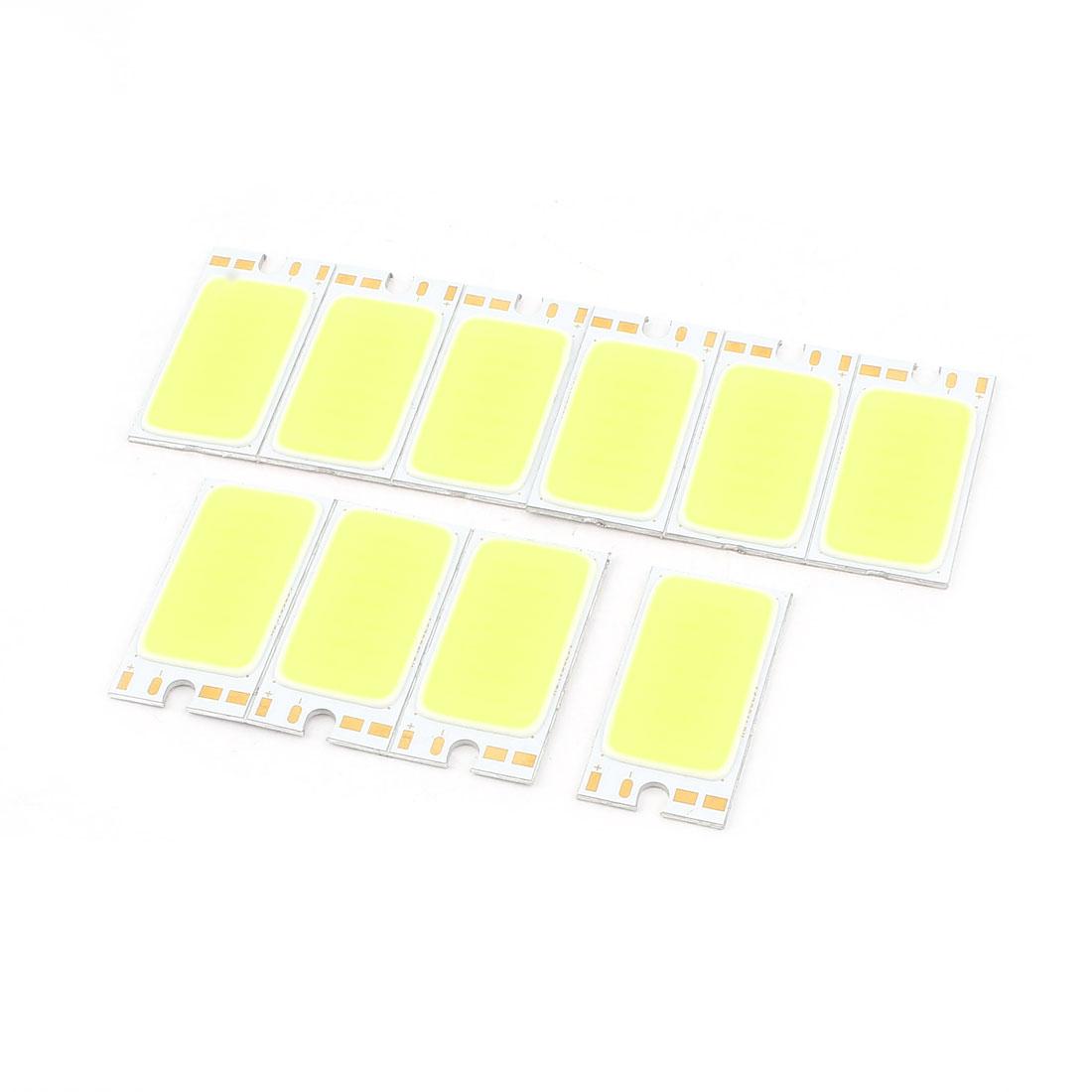 1.7W DC 9-11V 170mA 80-90LM/W White LED Light COB Lamp Bead Chip 10 Pcs