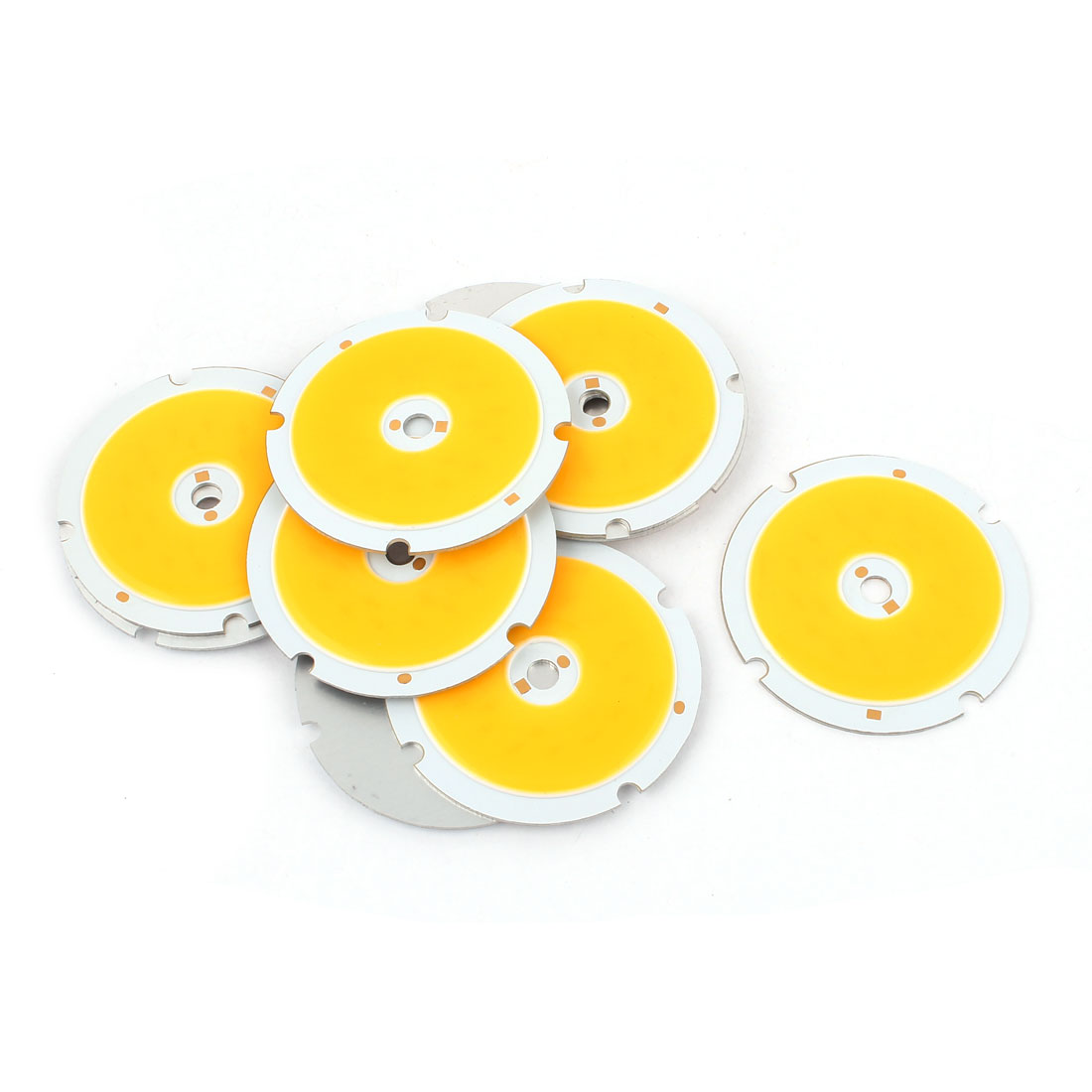 7W DC21-24V 300mA 80-90LM/W Warm White LED Light COB Lamp Bead Chip 10 Pcs