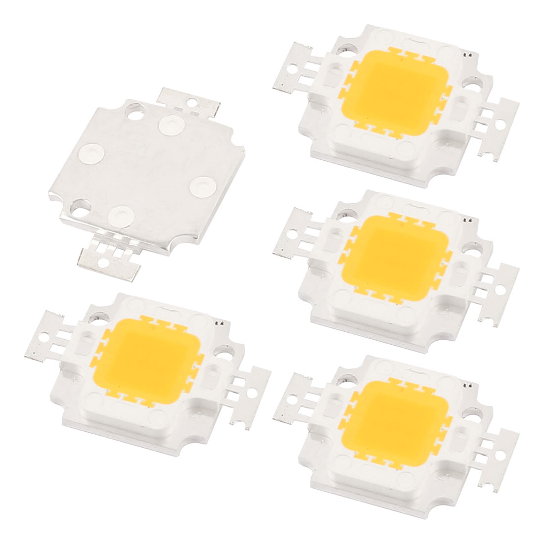 10W DC9-11V 900mA 80-100LM/W Warm White LED Light COB Lamp Bead Chip 5 Pcs