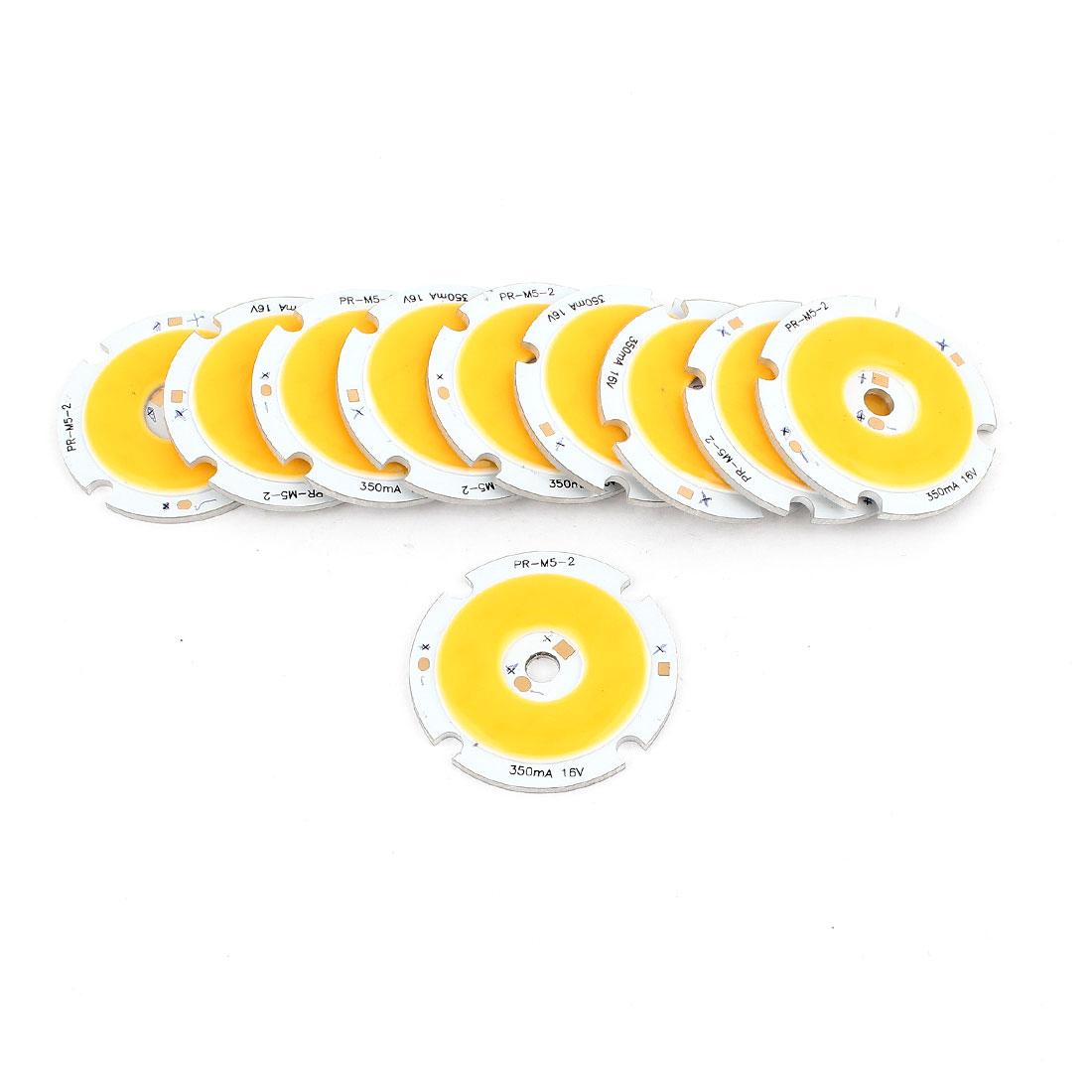 5W DC5-18V 300mA 80-90LM/W Warm White LED Light COB Lamp Bead Chip 10pcs