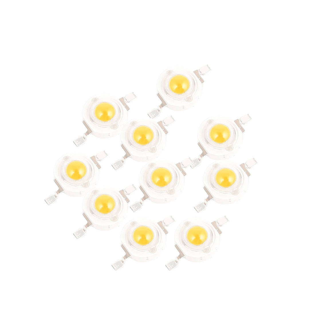 10 Pcs Warm White Light SMD LED Bead Chip Bulb Lamp 3.0-3.6V 350mA 1Watt