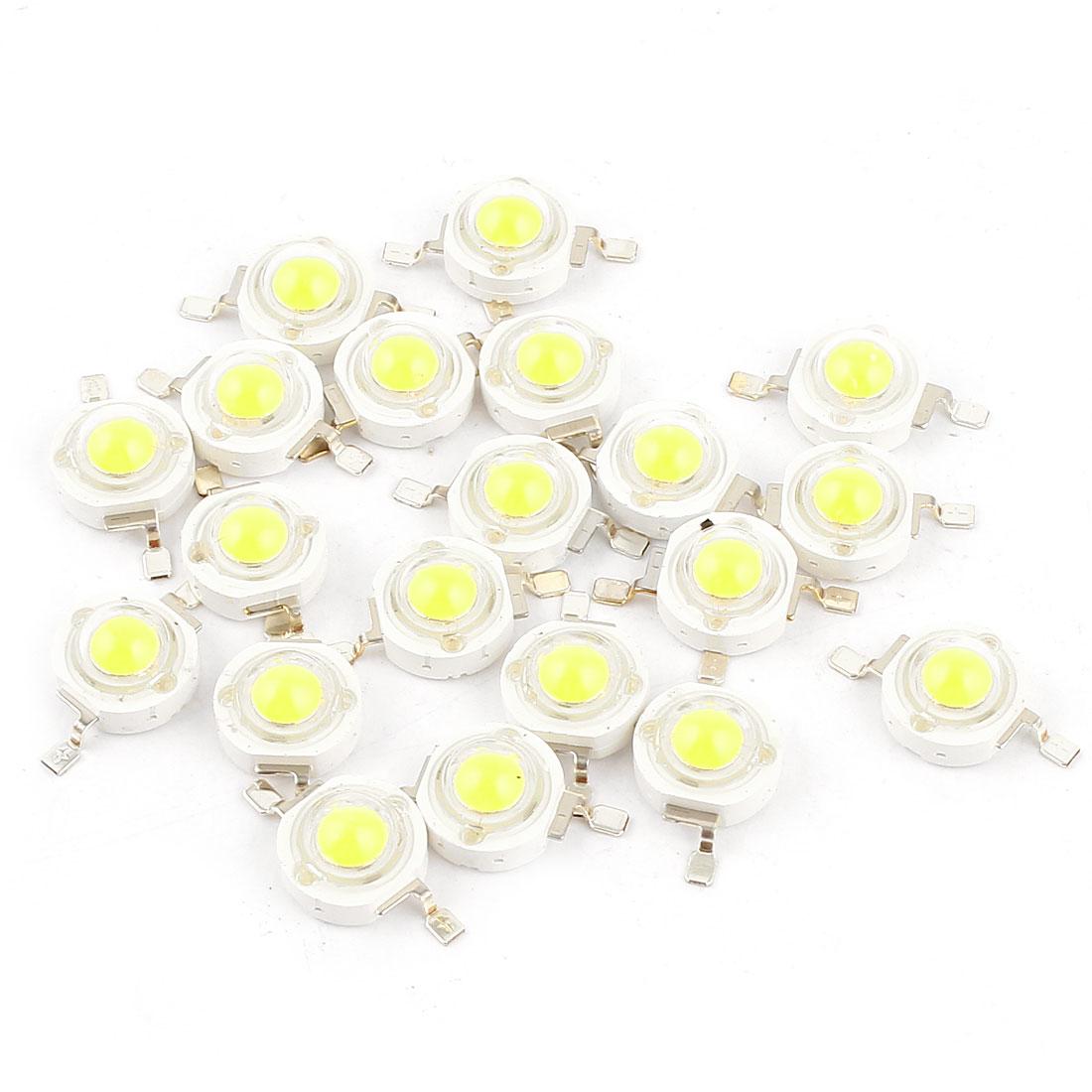 20 Pcs Pure White Light SMD LED Bead Chip Bulb Lamp 3.0-3.6V 350mA 1W 90LM