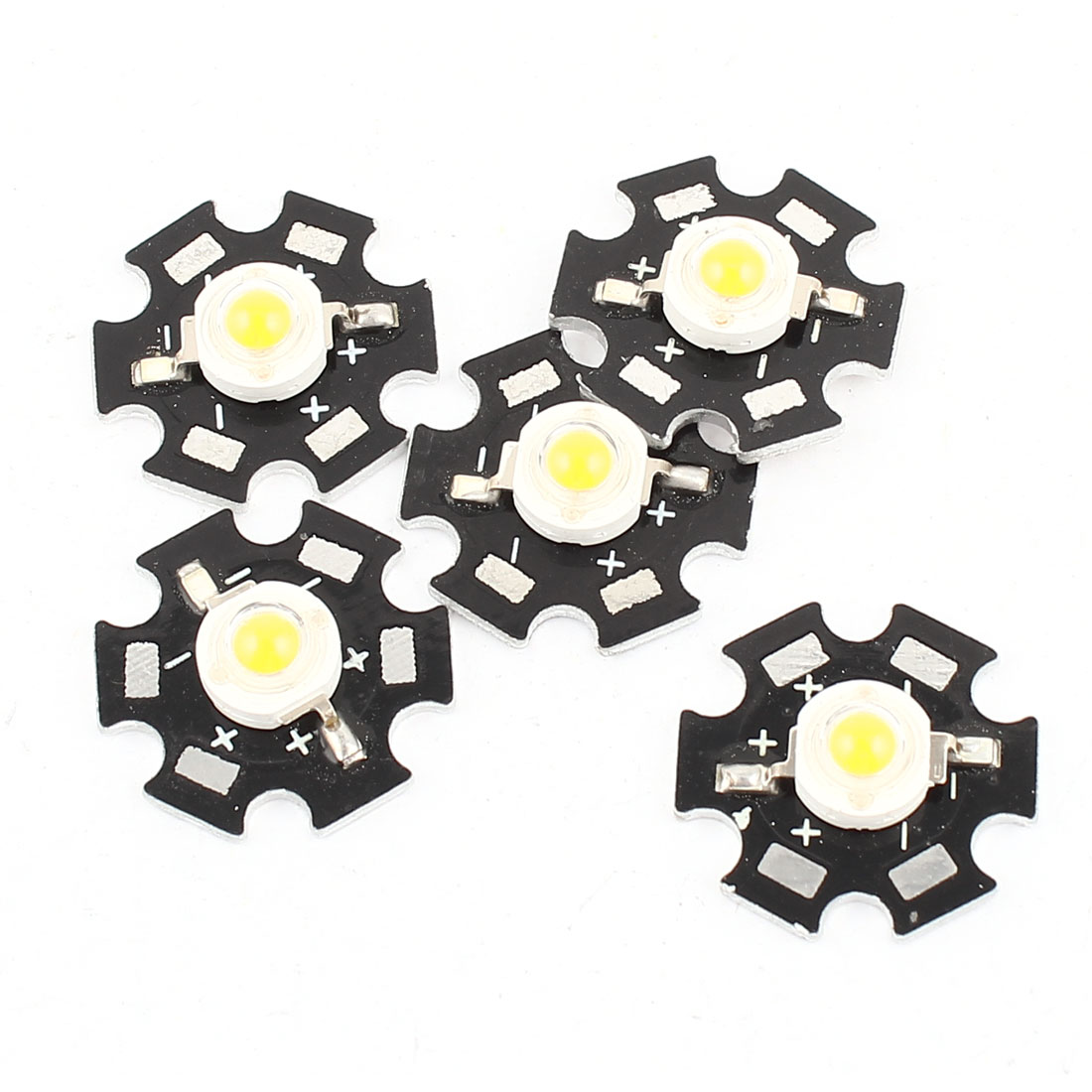 5Pcs 1W 3.0-3.6V 350mA Yellow 90LM LED Lamp Emitter Bead 20mm Base