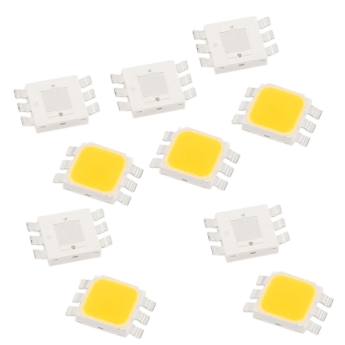 3.0-3.6V 350mA 1W Warm White High Power LED Bead SMD 5050 Chip Lamp Light 10pcs
