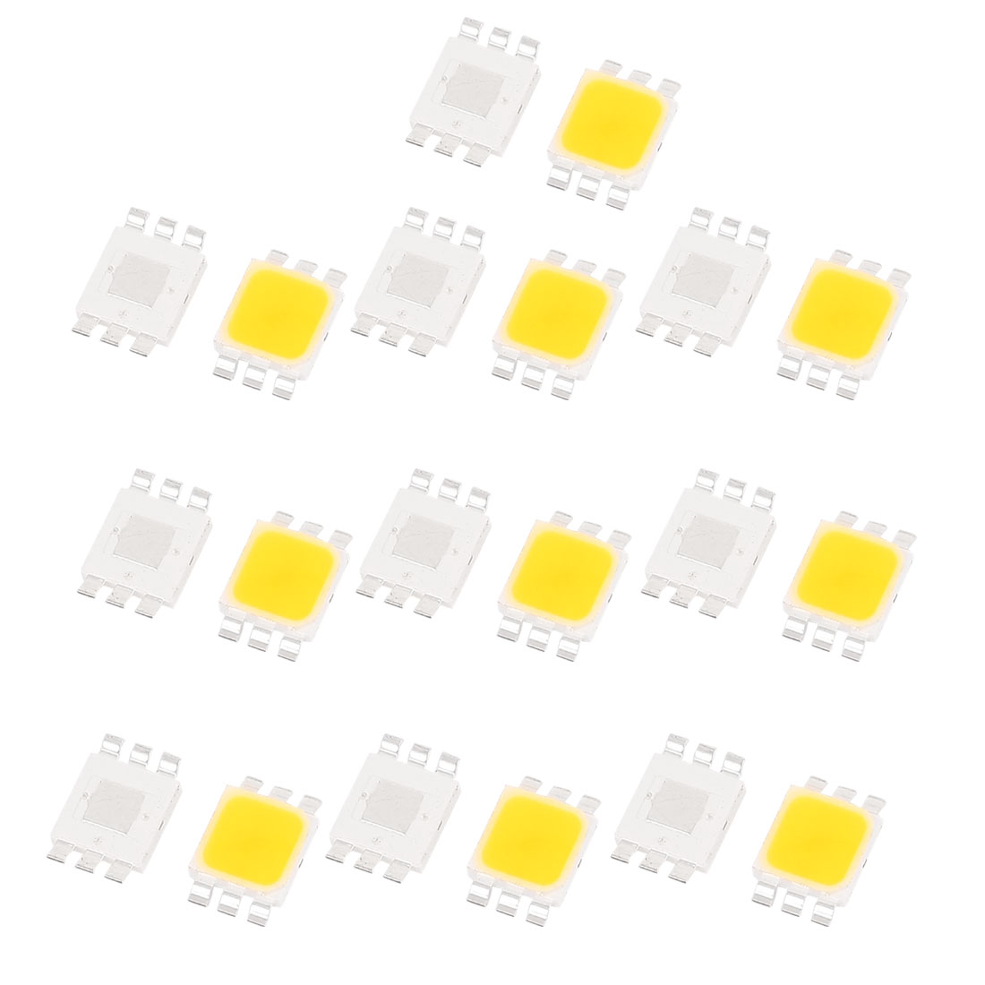 20 Pcs Warm White Light SMD 5050 LED Bead Chip Lamp 3.0-3.6V 350mA 1W 80LM