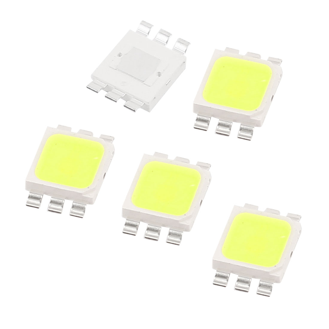 3.0-3.6V 350mA 1W Pure White High Power LED Bead SMD 5050 Chip Lamp Light 5pcs