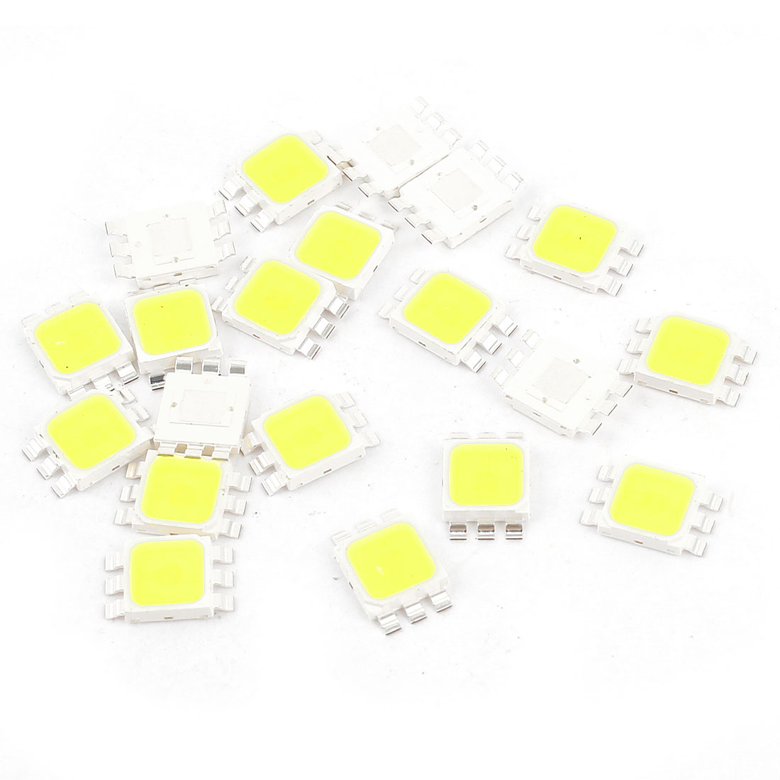 20 Pcs Pure White Light SMD 5050 LED Bead Chip Lamp 3.0-3.6V 350mA 1W 90LM