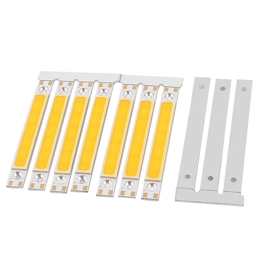 6W DC9-11V 300mA 80-90LM/W Warm White LED Light COB Lamp Bead Chip 10pcs