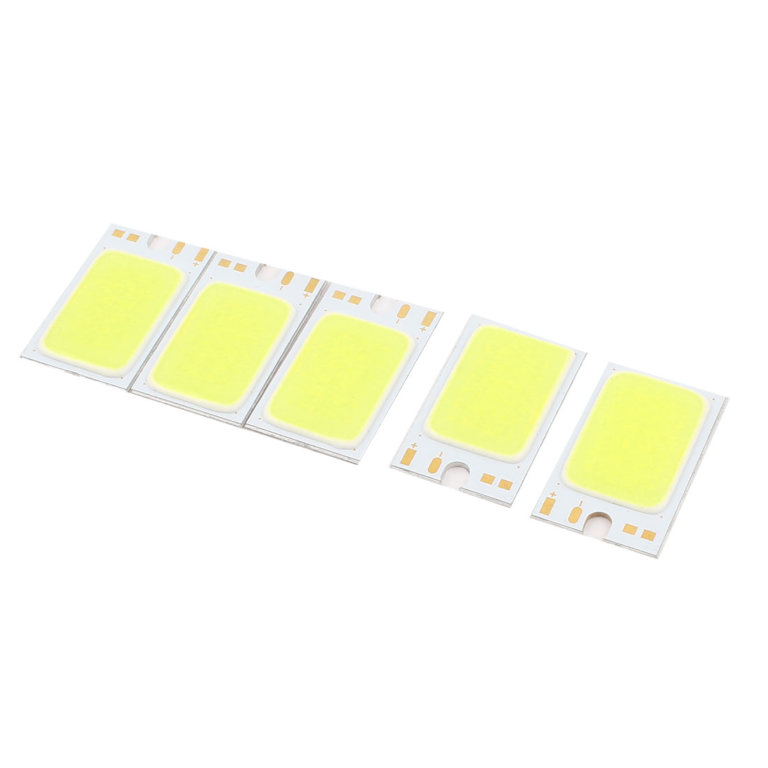1.5W DC9-11V 150mA 80-90LM/W White LED Light COB Lamp Bead Chip 5 Pcs