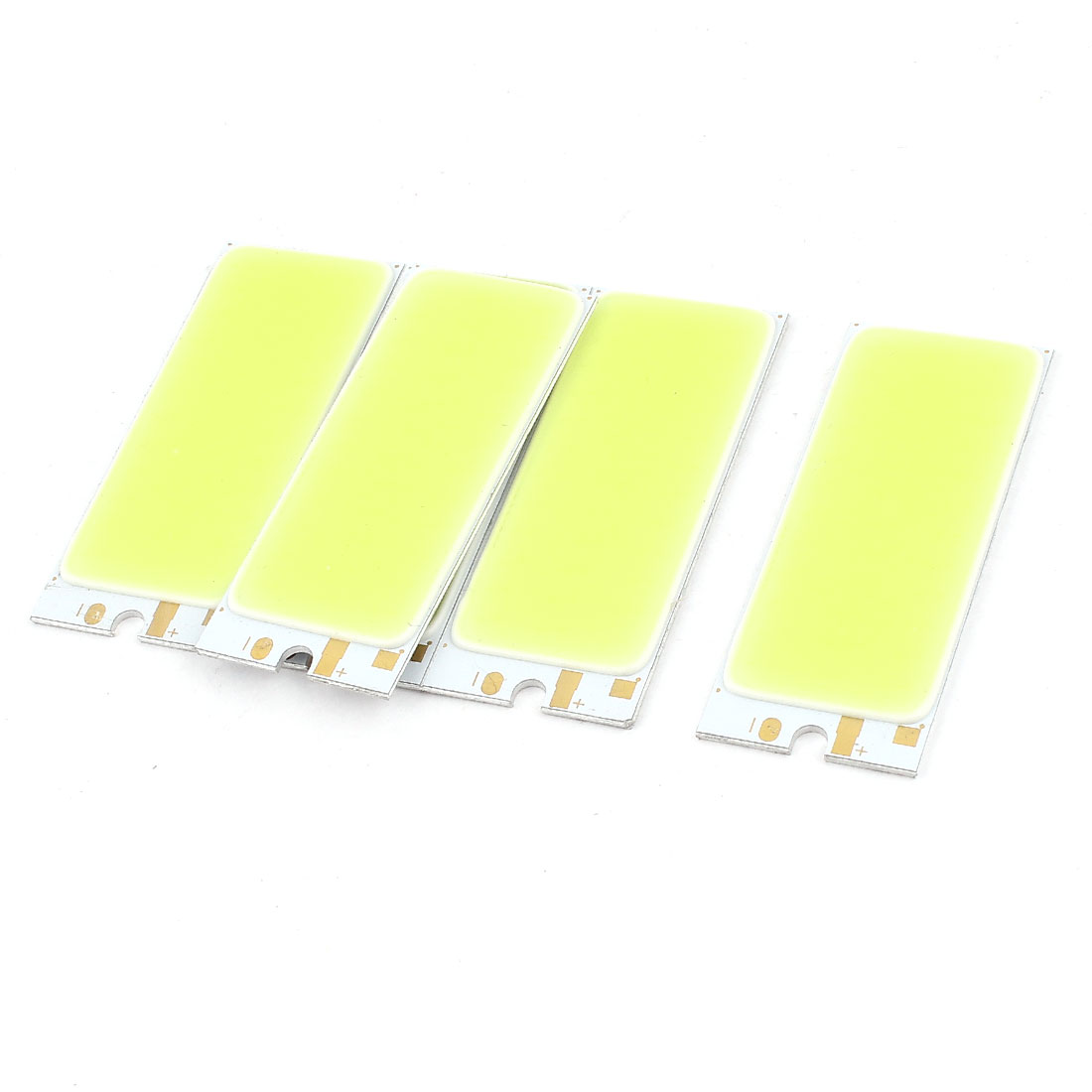 3W DC9-11V 300mA 80-90LM/W White LED Light COB Lamp Bead Chip 5 Pcs