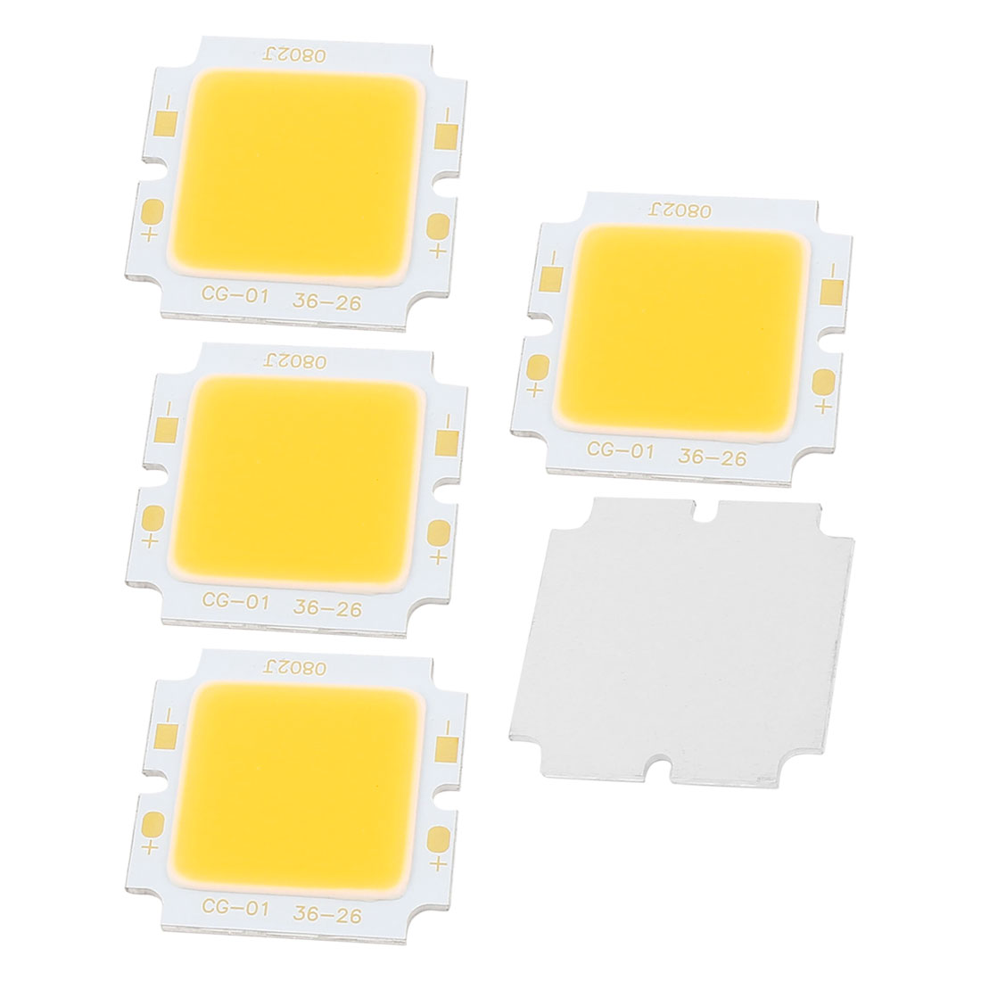 5PCS 8W DC24-30V 300mA 80-90LM/W Warm White LED Light COB Lamp Bead Chip