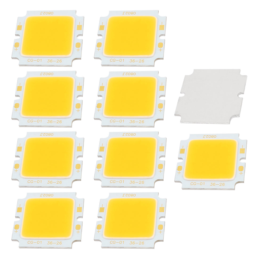 8W DC24-30V 300mA 80-90LM/W Warm White LED Light COB Lamp Beads Chip 10PCS